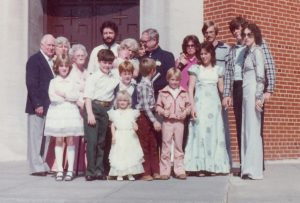 My baptism with four generation of women who had an early start at influencing my life.